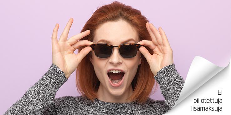 Nyt 100% AITO Valitse 2 Maksa 1 -  saat toiset silmälasit ILMAISEKSI - ilman lisäkuluja!